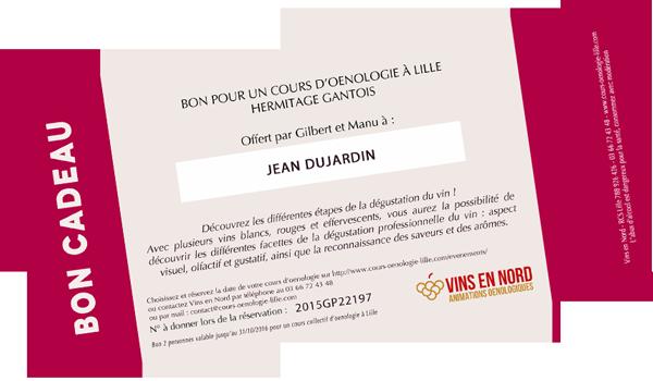 Chèque Cadeau Oenologie Lille 51170902d966